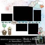 Birds n Bloom QuickMix-$4.99 (Bisous By Suzanne Carillo)