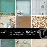 Retro Man Paper Pack-$3.99 (Bisous By Suzanne Carillo)