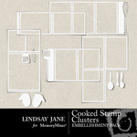 Cooked Stamp Cluster Pack-$1.99 (Lindsay Jane)