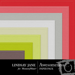 Awesomeness Embossed Paper Pack-$2.49 (Lindsay Jane)