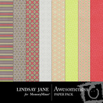 Awesomeness Pattern Paper Pack-$3.99 (Lindsay Jane)