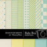 Baby Boy DBK Paper Pack-$3.99 (Designs by Krista)