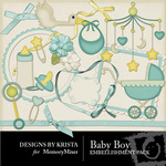 Baby Boy DBK Embellishment Pack-$2.49 (Designs by Krista)