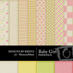 Baby Girl DBK Paper Pack-$3.99 (Designs by Krista)
