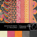 Groovy Girl Paper Pack-$3.99 (Designs by Krista)