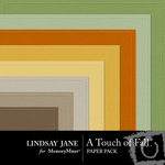 A Touch of Fall Embossed Paper Pack-$2.49 (Lindsay Jane)