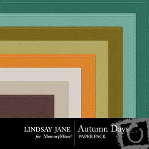 Autumn days embossed pp medium