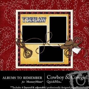 Cowboy and cowgirl qm medium