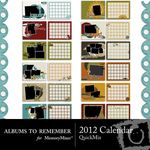 2012 ATR Calendar QuickMix-$6.99 (Albums to Remember)