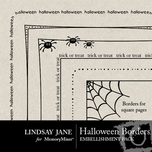 Halloween borders medium