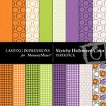 Sketchy Halloween Color Paper Pack-$3.99 (Lasting Impressions)