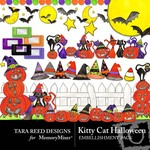 Kitty Cat Halloween Embellishment Pack-$2.99 (Tara Reed Designs)