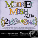 Monster Mash Alphabet Pack-$3.99 (Ettes and Company by Fayette)
