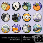 Monster Mash Flair Pack-$1.99 (Fayette Designs)