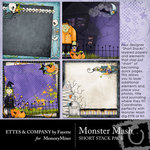 Monster Mash Short Stack Paper Pack-$2.99 (Ettes and Company by Fayette)
