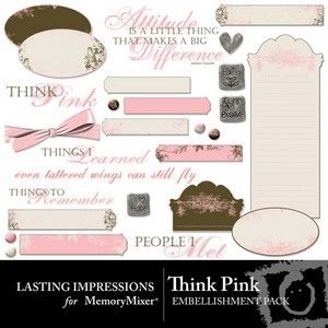 Think pink emb medium