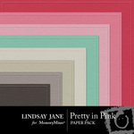 Pretty in Pink Embossed Paper LJ-$2.50 (Lindsay Jane)