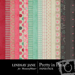 Pretty in Pink Paper Pack LJ-$3.99 (Lindsay Jane)