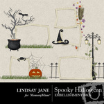 Spooky halloween frames small