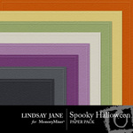 Spooky halloween embossed pp small