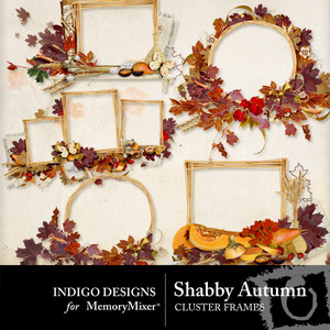 Shabby autumn frames medium