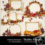 Shabby autumn frames small