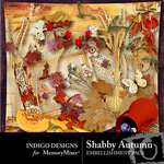 Shabby Autumn Embellishment Pack-$2.99 (Indigo Designs)