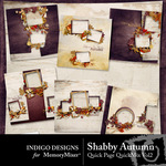 Shabby Autumn Quick Page QuickMix Vol 2-$3.99 (Indigo Designs)
