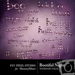 Bootiful Night WordArt Pack-$1.99 (Fly Pixel Studio)