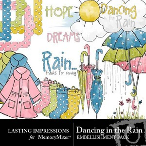 Dancing in the rain emb medium
