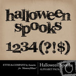 Halloween Spooks Alphabet Pack-$0.99 (Ettes and Company by Annette)