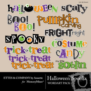 Halloween spooks wordart medium