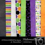 Halloween Spooks Paper Pack-$3.99 (Ettes and Company by Annette)