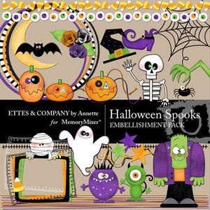 Halloween spooks emb medium