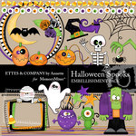 Halloween Spooks Embellishment Pack-$2.99 (Ettes and Company by Annette)