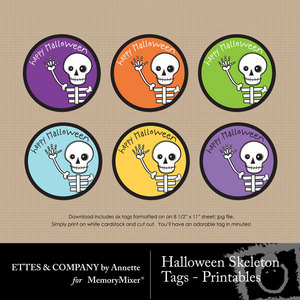 Halloween skeleton tag printables medium
