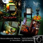 Halloween Spell Quick Page QuickMix-$1.75 (MagicalReality Designs)