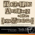 Totally Autumn Alphabet Pack-$0.99 (Ettes and Company by Fayette)