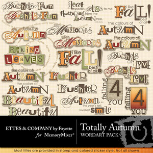 Totally autumn wordart medium