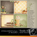 Totally Autumn Short Stack Paper Pack-$2.49 (Ettes and Company by Fayette)