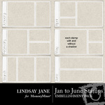 January to June Stamp Pack-$1.99 (Lindsay Jane)