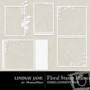 Floral stamp frames medium