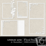 Floral stamp frames small