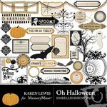 Oh Halloween Embellishment Pack-$2.99 (Karen Lewis)