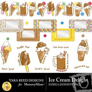 Ice cream delight emb medium