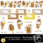 Ice Cream Delight Embellishment Pack-$2.99 (Tara Reed Designs)