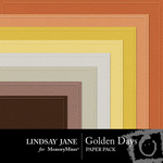 Golden Days Embossed Paper Pack-$2.49 (Lindsay Jane)