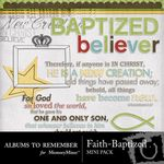 Baptized Mini Pack-$1.99 (Albums to Remember)