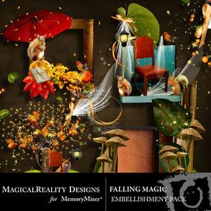 Falling magic clusters medium
