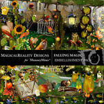 Falling Magic Embellishment Pack-$3.49 (MagicalReality Designs)